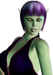 Free Purple Elf Woman Stock Photos - 17721293