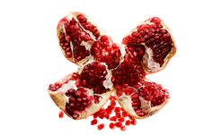 Free Broken Pomegranate Royalty Free Stock Photos - 17721328