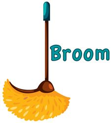 Free Broom Royalty Free Stock Image - 17721696