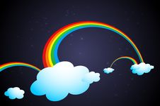 Free Rainbow In Clouds Royalty Free Stock Photography - 17721807