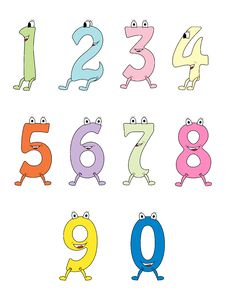 Free Colorful Cartoon Numbers Royalty Free Stock Photos - 17722148