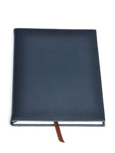 Navy Leather Notebook Royalty Free Stock Images