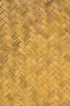 Old Weave Bamboo Wall Stock Photo
