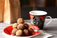 Free Сhocolate Truffles And Cup Of Coffee Stock Photos - 17722613