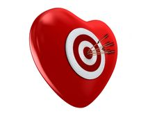 Free Red Heart And Target Stock Images - 17722614