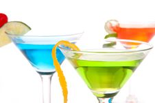 Free Martini Cocktails With Tropical Flavours Royalty Free Stock Photography - 17723267
