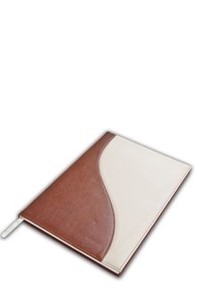 Free Brown Color Notebook As White Background Royalty Free Stock Photos - 17723268