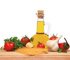 Ingredients For Pasta Sauce Royalty Free Stock Photos