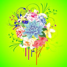 Free Abstract Floral Background Royalty Free Stock Images - 17723809