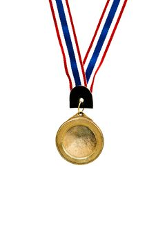 Free Blank Gold Medal On White Royalty Free Stock Image - 17723846