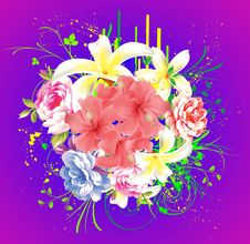 Free Abstract Floral Background Royalty Free Stock Photography - 17723877