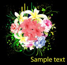 Free Abstract Floral Background Royalty Free Stock Photo - 17723995