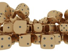 Free Golden Playing Dices Stock Photography - 17724092