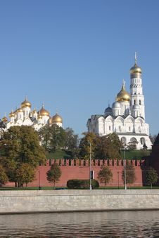 Free Cupolas Of The Moscow Kremlin. Stock Photography - 17724412