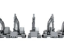 Free White Models Of The Diggers Royalty Free Stock Image - 17724486