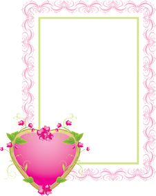 Free Decorative Frame With Floral Heart Stock Photos - 17724533