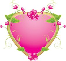 Free Floral Heart Stock Image - 17724571