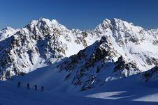 Free Climbing Piz Kesch Stock Photo - 17725280