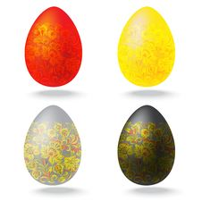 Free Easter Eggs Collection Royalty Free Stock Photography - 17725647