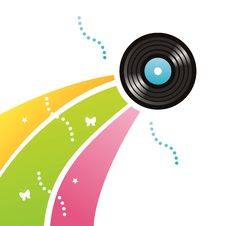 Colorful Vinyl Record Background Royalty Free Stock Image