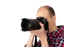 Young Male Photographer Royalty Free Stock Photos
