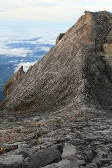 Free Climbers On Kinabalu Summit Stock Photos - 17726733