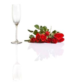 Free Red Roses On White Isolated Background Stock Photography - 17727122