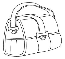 Free Leather Bag, Contours Stock Photos - 17727193