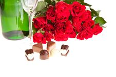 Free Red Roses On White Isolated Background Stock Photography - 17727472