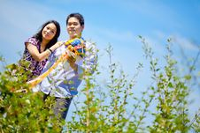 Free Romantic Couples Standing Outdoors Royalty Free Stock Photography - 17728567