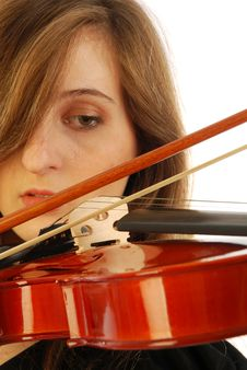Free Woman With Violin 001 Royalty Free Stock Photo - 17728715