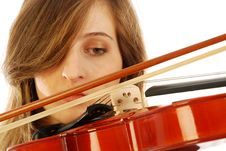 Free Woman With Violin 014 Royalty Free Stock Image - 17729026