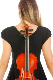 Free Woman With Violin 057 Royalty Free Stock Images - 17729419