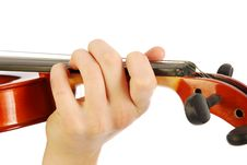 Free Woman With Violin Stock Photography - 17729702