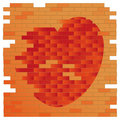 Free Brick Wall And Heart Stock Photos - 17730103