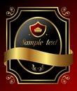 Free Decorative Ornate Gold Frame Royalty Free Stock Images - 17733499