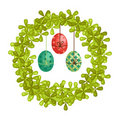 Free Colorful Easter Egg Wreath Stock Image - 17737791