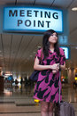 Free Asian Lady Waiting At The Meeting Point Stock Images - 17739464