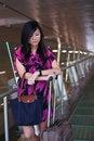 Free Asian Lady Waiting Stock Image - 17739711