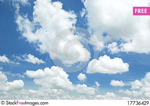 Free Blue Sky Royalty Free Stock Images - 17736429