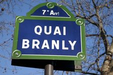 Free Quai Branly Street Sign Royalty Free Stock Images - 17730109