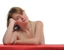 Free Pensive Woman Portrait Royalty Free Stock Photo - 17730365