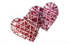 Free Wicker Hearts Royalty Free Stock Image - 17730426