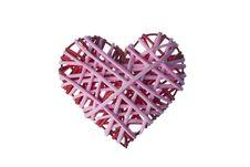 Free Unique Wicker Heart Royalty Free Stock Photo - 17730435