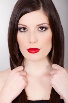 Free Red Lips Royalty Free Stock Image - 17730816