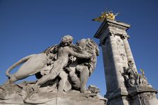 Free Entrance To Alexandre III Bridge, Paris Royalty Free Stock Images - 17730919