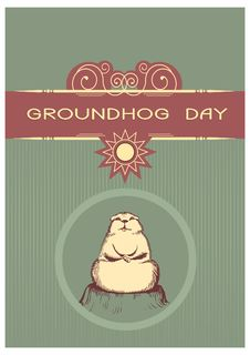 Free Groundhog Day Postcard Stock Photography - 17730942