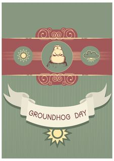 Free Groundhog Day Postcard Royalty Free Stock Photos - 17730958