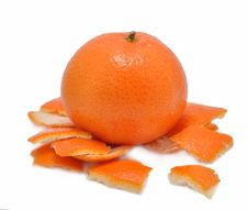 Free Mandarine With A Skin On A White Background Royalty Free Stock Images - 17731319