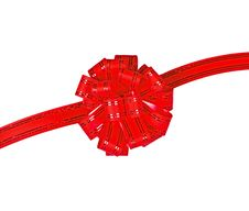 Gift Red Ribbon And Bow Stock Photography